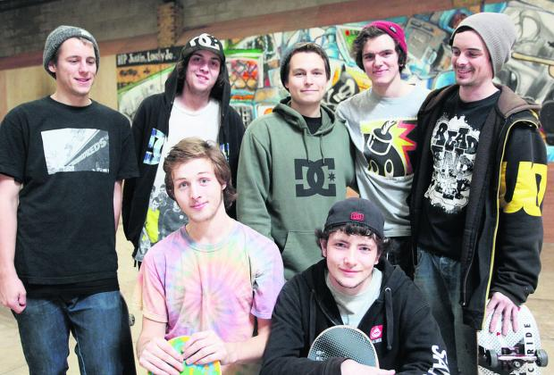 Skaters at the ATB Skate Warehouse were in West Swindon in November to discuss a skate park plan with residents. Back Row from left, Tom Price, John McKenna, Luke Prout, Zak Frewin and Matt Drever. Front Row from left, Billy Steinmann and James Cooper