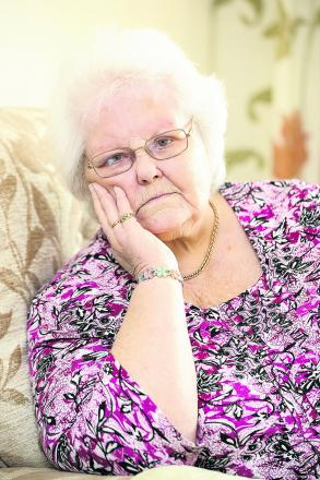 Pictured is Susan Wright, who was left waiting for hours in hospital reception after Arriva failed to pick her up