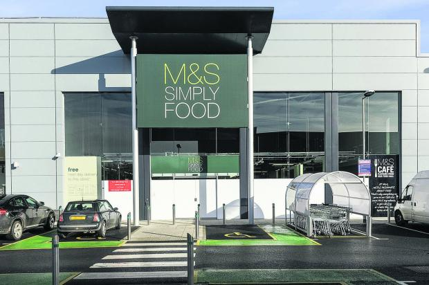 The new M&S Simply Food on Mannington retail park