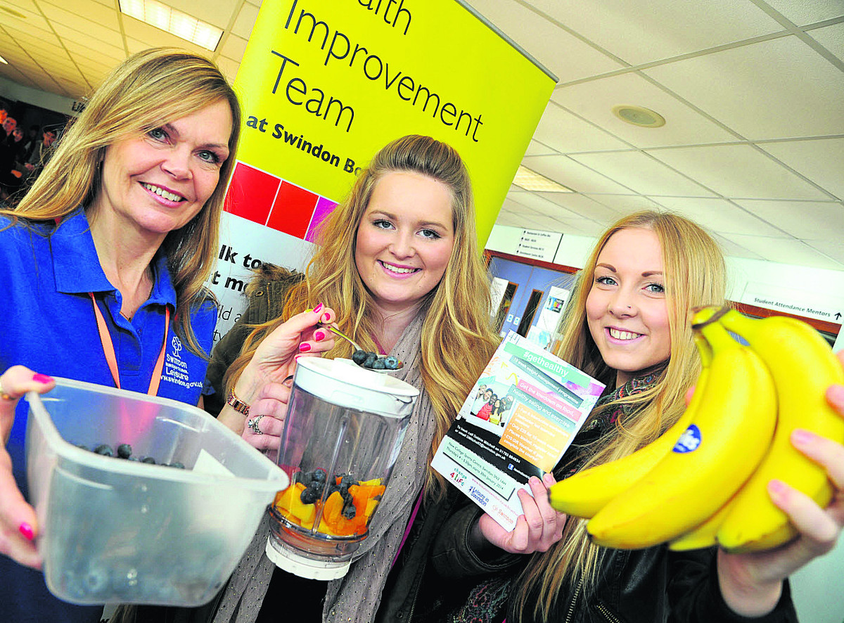 From left, Debbie Mitchell, Lauren Roberts and  Hannah Williams at the launch of a new health