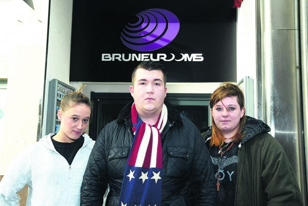 Some staff at the Brunel Rooms have quit because of not being paid. Pictured are workers Natasha Eagles, Sean Baxter and Gemma Le Gallez