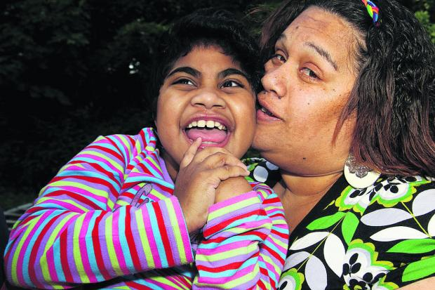 Louisa Ravouvou and her mother Ana. Louisa has been awarded £5m after both GWH and the John Radciffe Hospital, in Oxford, admitted failures of care