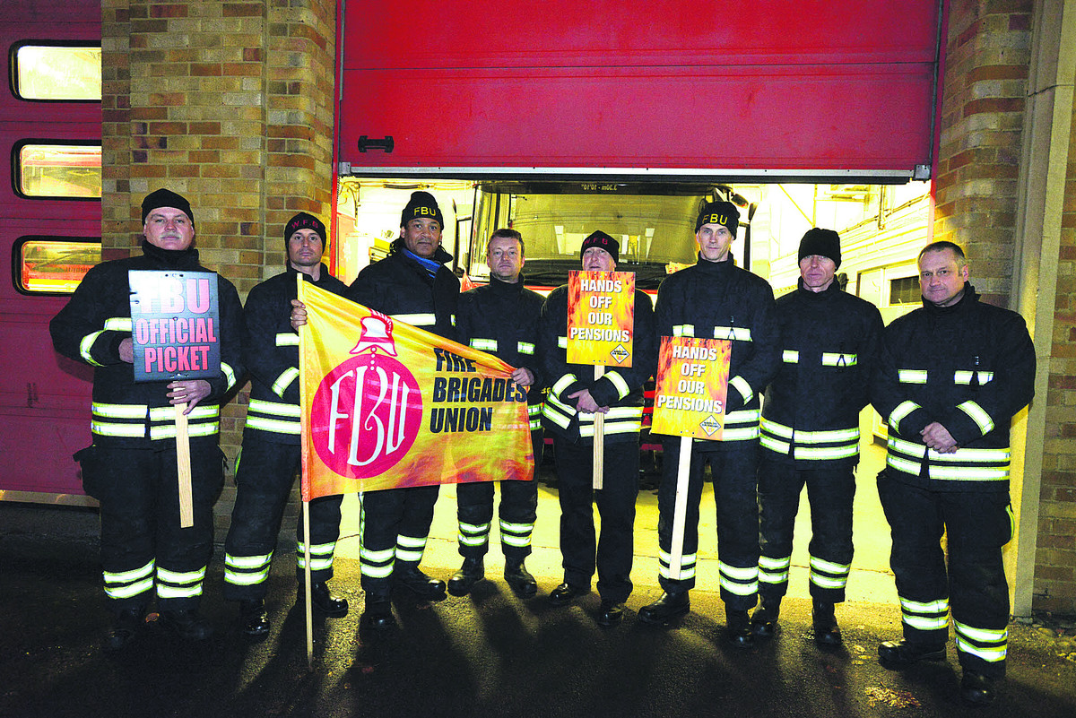 Drove Road fire station strike action last month and waiting for more action