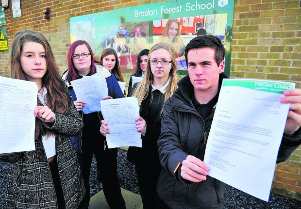 Students from Bradon Forest School are collecting a petition to save the 53 bus service. From left, Molly Griffin, Sophie Harflett, Eleasha Kell, Charlotte Butler, Lucy Taylor and Gus Gardener