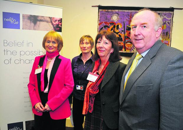 Baroness Corston, ISIS manager Rose Mahon, Liz Rijnenberg, of Wilts Probation Trust, and police commissioner Angus Macpherson at the opening of the centre tailored for female offenders
