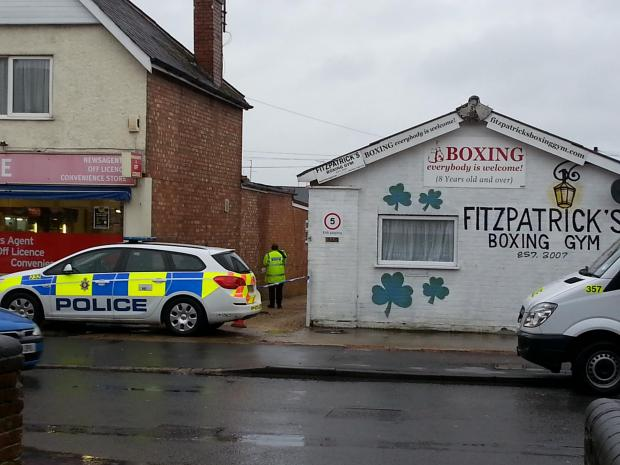 Police cordoned off the scene of the sexual assault in Ferndale Road on Sunday morning