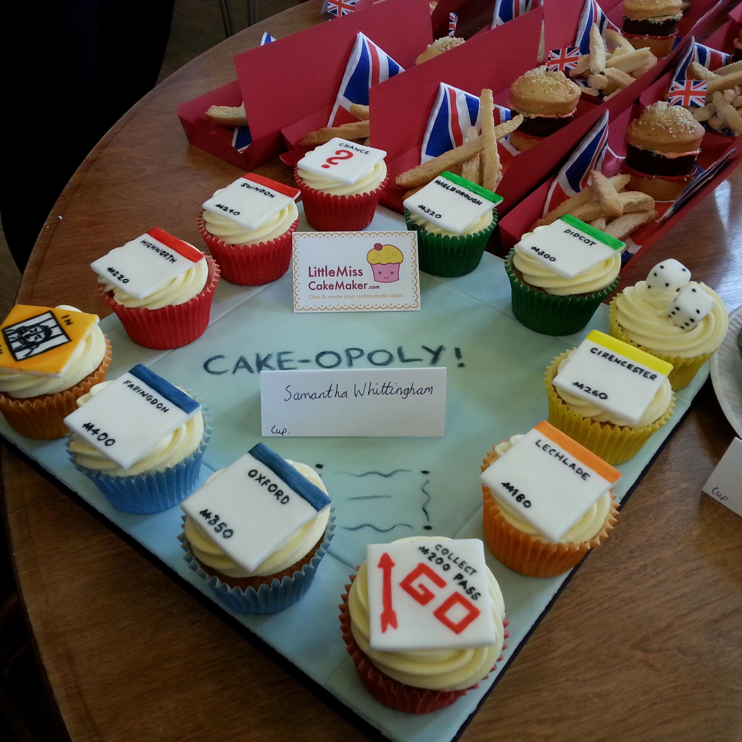 Sam's winning 'Cakeopoly' entry.