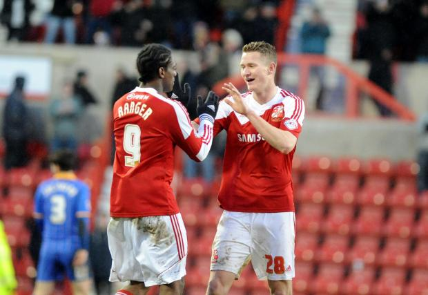 Swindon Advertiser: Swindon Town's Nile Ranger and Michael Smith