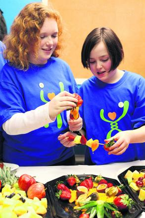 Children enjoy their MEND healthy eating session