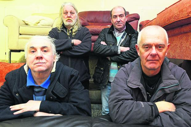 Swindon Advertiser: Malcolm Hopper, Phil Matthews, Stephen Pickering and Martin Hopkins from Top Drawer