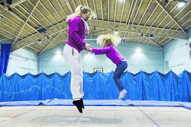 Izzie Moore and coach Lucy Ingram at Stratton Leisure Centre, which has almost completed its £1m refurbishment. Picture: Alex Skennerton