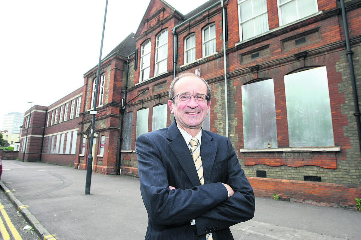 Coun Brian Mattock, the cabinet member for health and social care, outside Sandford House in the town centre which is hoped will be used as an information hub for the community