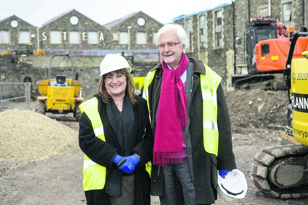 UTC principal Angela Barker-Dench and Lord Kenneth Baker, visiting the UTC site