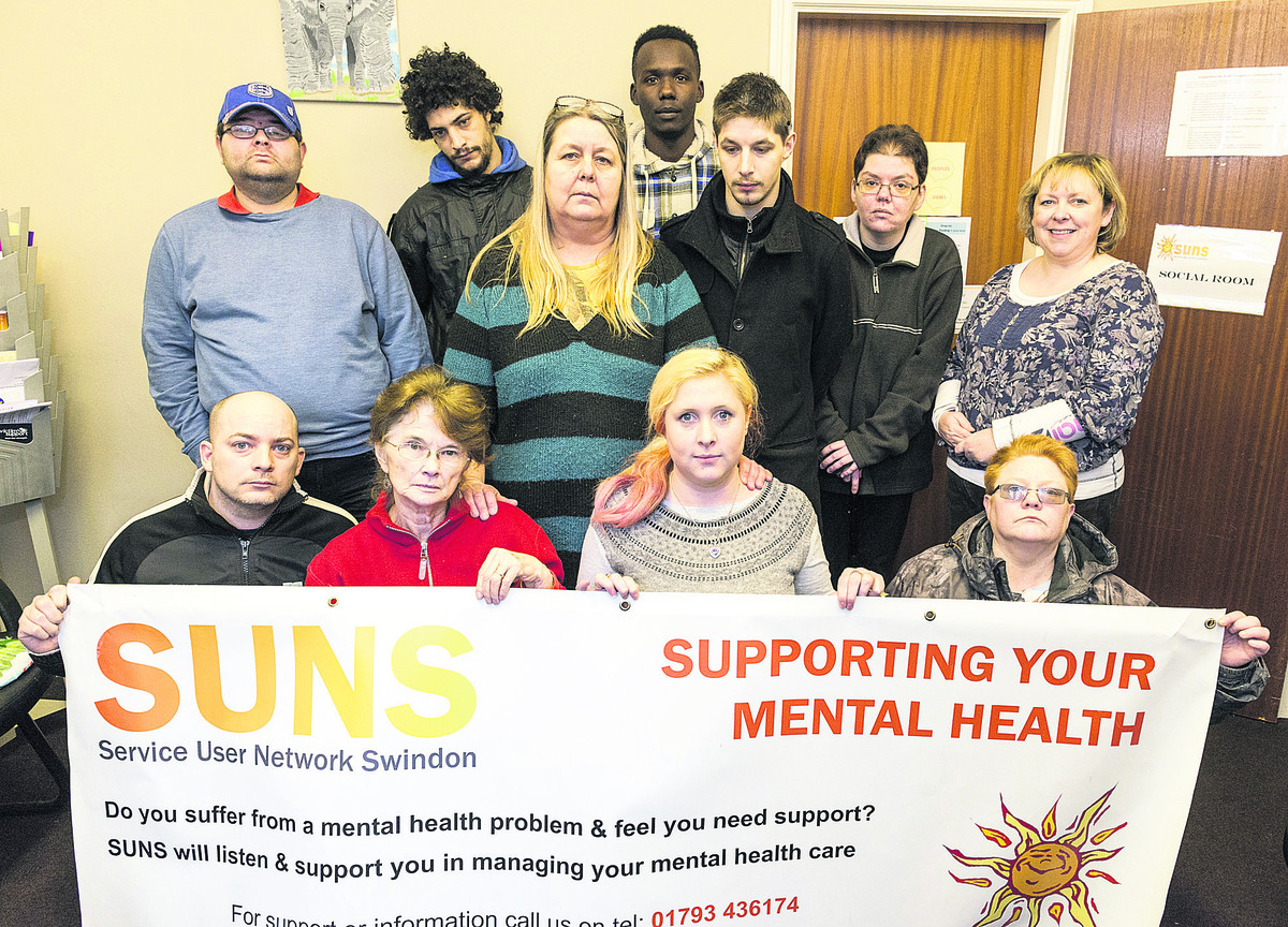 Suns Mental Health charity. Pictured: Front, left to right, Ricki Chandler, June Stewart, Danielle Curtis, Tracey Kemp. Back, left to right, Richard Pike, Dominic Chandler, Ann Mooney, Rahim Moussa, Kegan Mooney, Louise Young and Stacey Lambert