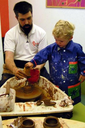 Pottery and sewing classes are running all through Easter