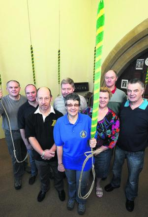 From left, Steve Bucknell. Julian Hemper, Chris Taylor, David Hacker, Ruth Plumridge, Jenny Hancock, Andrew Woolley and Julian Ferrar