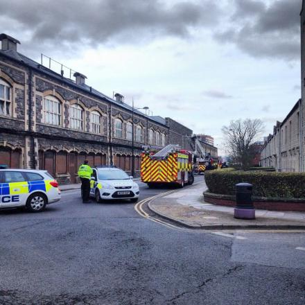 Police officers and fire crews at London Street  (Picture: Christopher Brown)