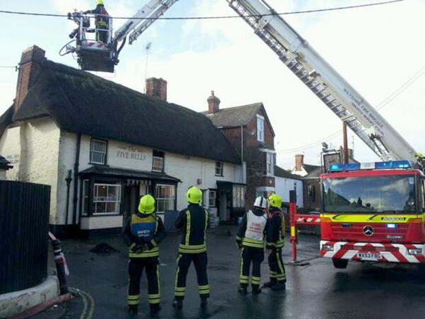 Fire crews have the fire at the Five Bells under control
