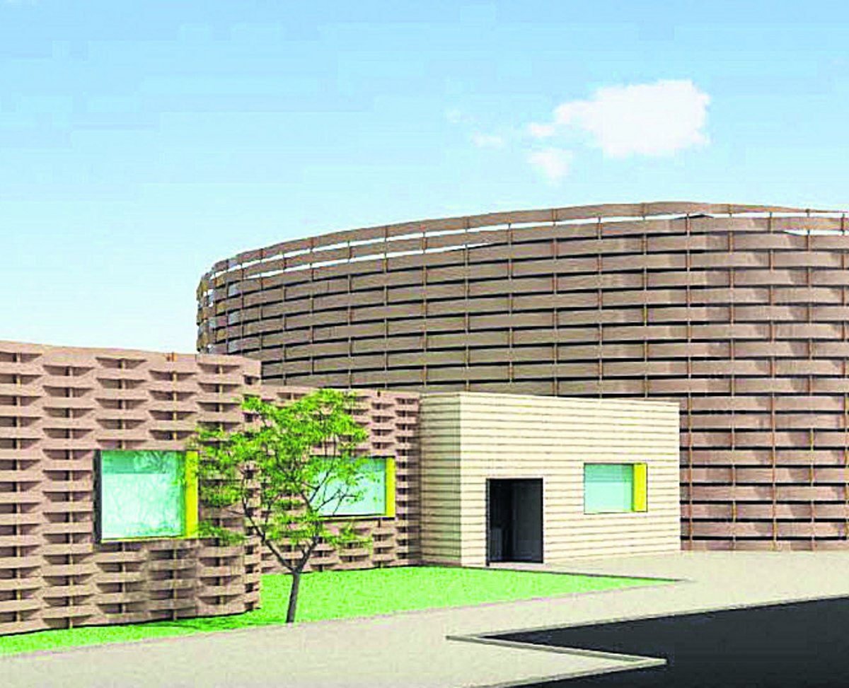 The artist's impression of the proposed Great Western Hospital radiotherapy unit