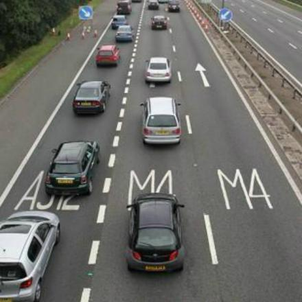 The M4 was closed in both directions yesterday morning after a man was spotted on an overbridge.