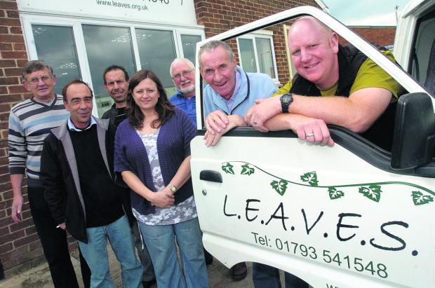 From left, Les Jarram, Malcolm Ricketts, Steve Davis, Julie Welsh, Bob Astbury, Tony Williams and Paul Tuck, of LEAVES