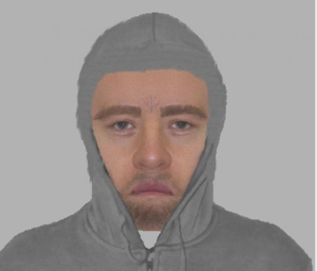 An Efit of the man police wish to speak to following an attempted robbery on January 1