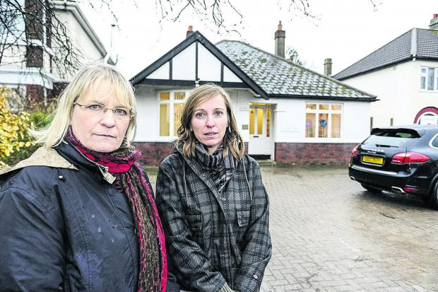 Pictured, left to right, are Anne Snelgrove (candidate for Swindon South) and Nadine Watts (Old Town ward councillor) outside the Marlborough Road