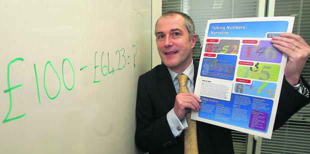Steven Uden, of Nationwide, which has launched a programme to help students with maths