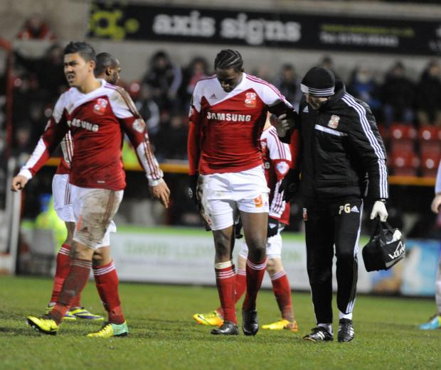 Nile Ranger hobbles off during last night's 0-0 draw