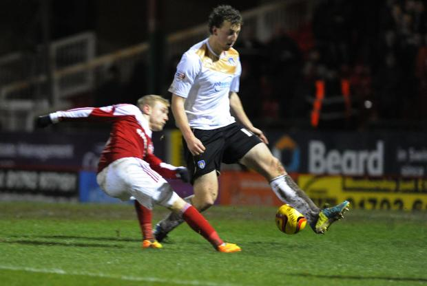 Swindon Advertiser: Action from Town's 0-0 draw with Colchester