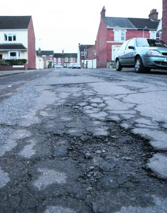 Potholes are driving motorists potty