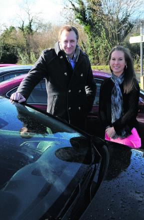 Richard King from Clearwater Vehicles at Poole Keynes, who is giving away a car as part of RAK, after being nominated by Amy Slater
