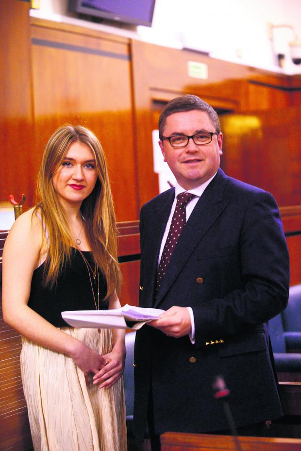Swindon Advertiser: Ellie James, newly elected Member of the Youth Parliament for Swindon,with MP Robert Buckland