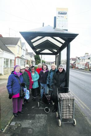 Croft Road residents are angry about the possible removable of the bus shelter