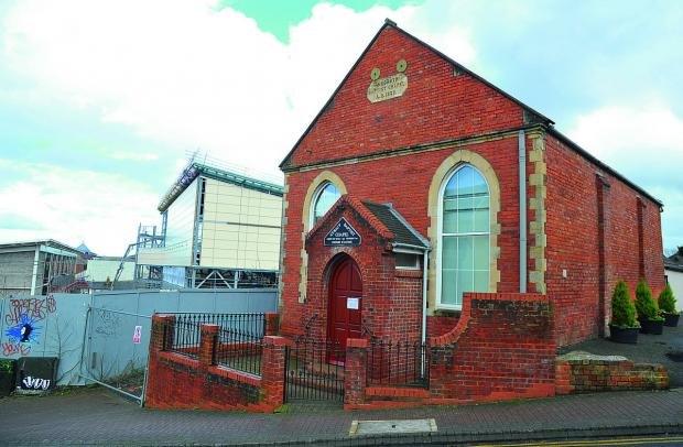 The Baptist Chapel in Prospect Hill has been closed due to work at nearby Regent Circus