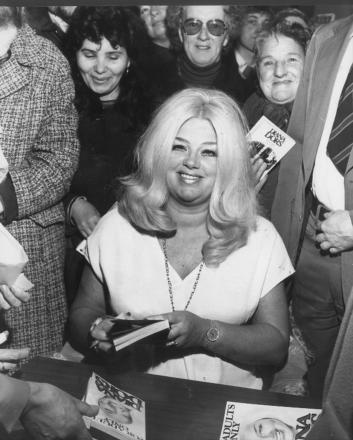 The day Diana Dors came back to Swindon. Above, at Brunel News in The Parade