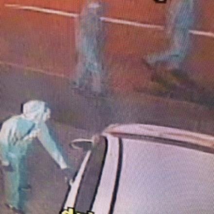 A gang caught on CCTV trying door handles of parked cars while owners slept