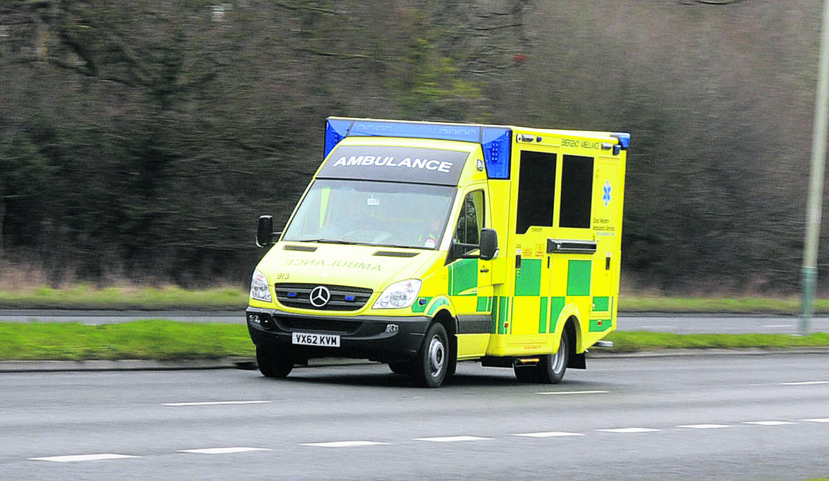 Passengers were taken by ambulance to Southmead Hospital in Bristol