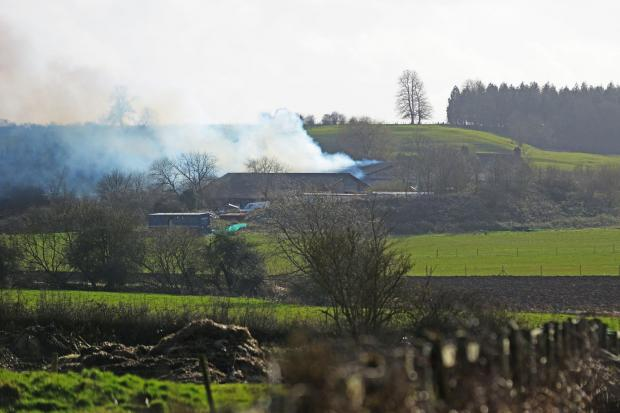 The fire on farmland in Royal Wootton Bassett