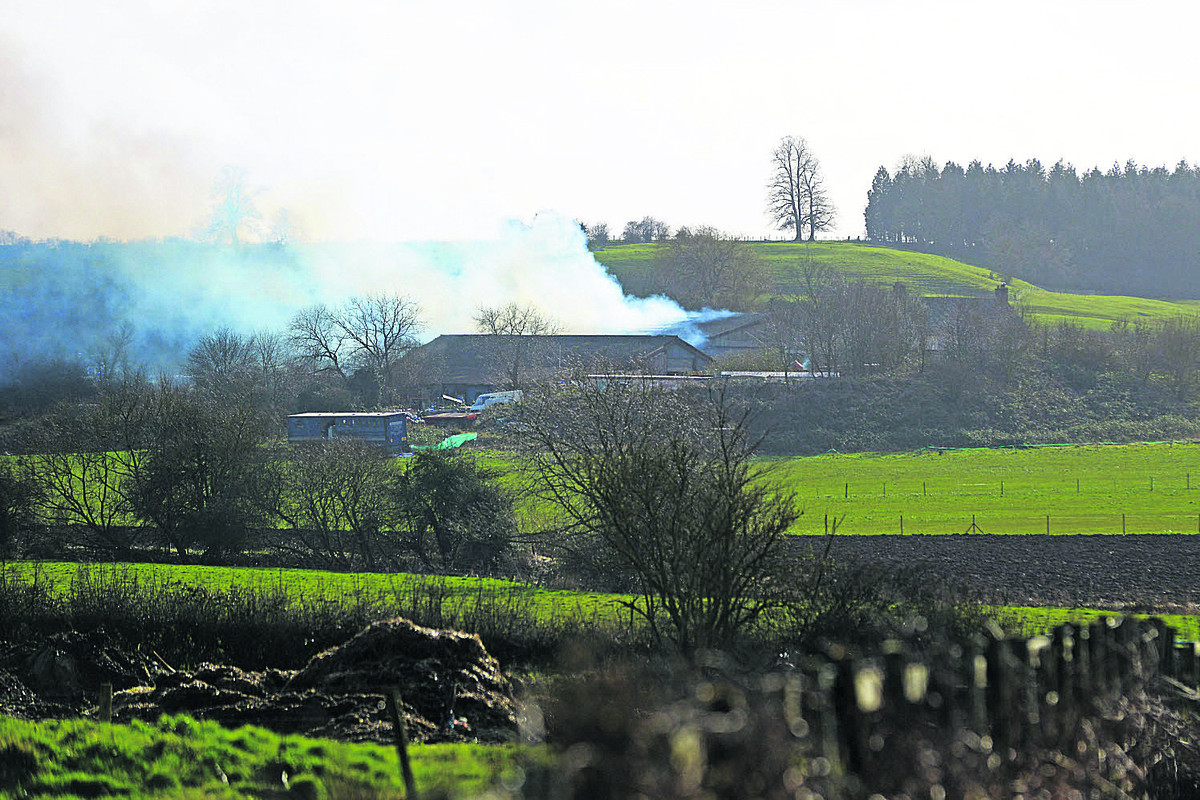 Concern over asbestos as barn and workshop gutted in huge fire