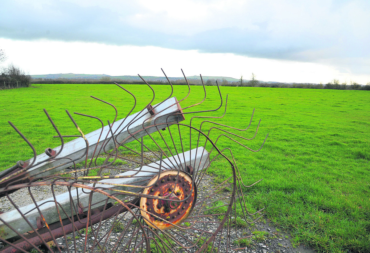 Ready to be transformed – the fields off the A420 which are planned to become a new district centre