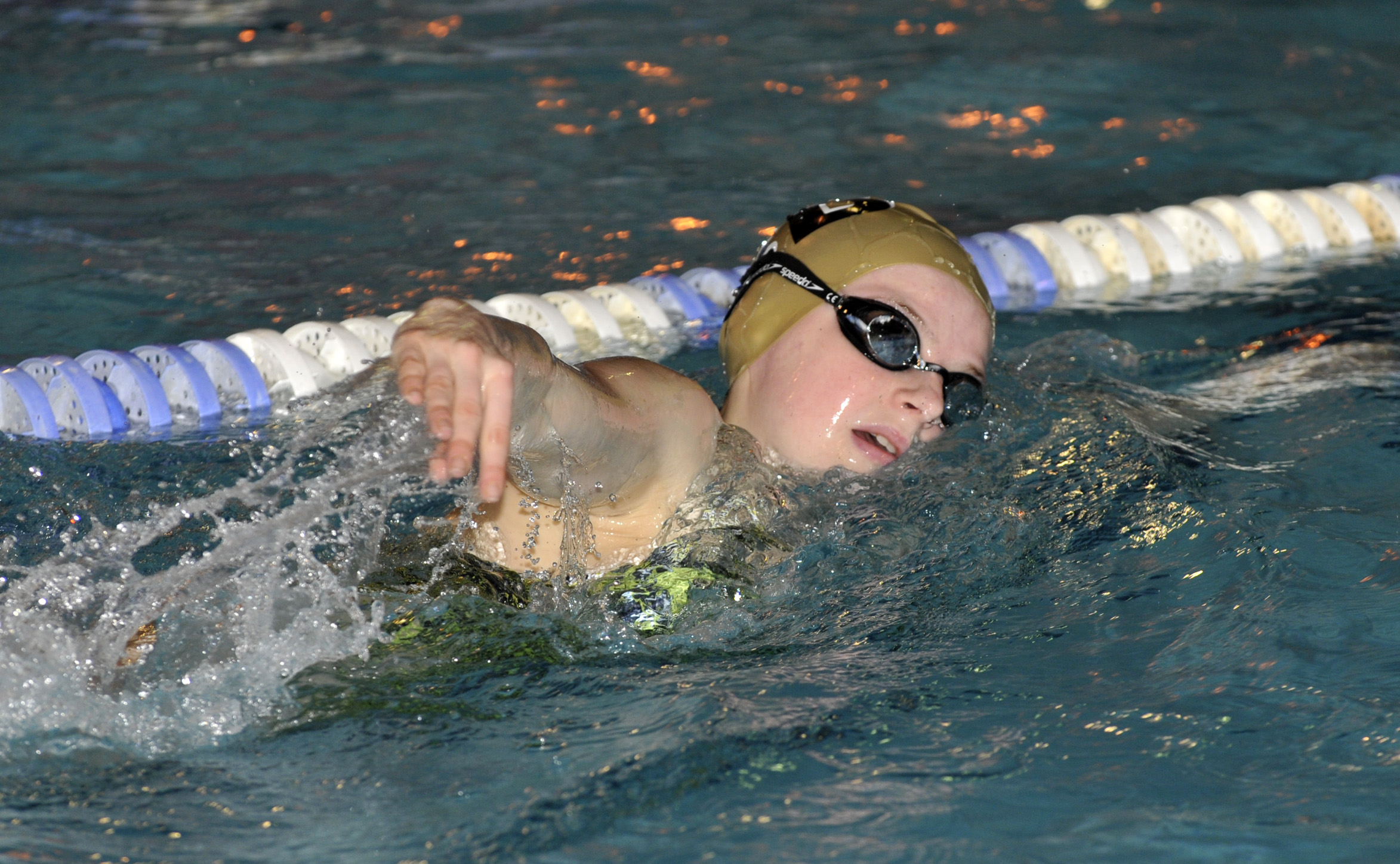 Swindon Dolphin's Charlotte Gardo in action at the Wiltshire County ASA Youth Championships