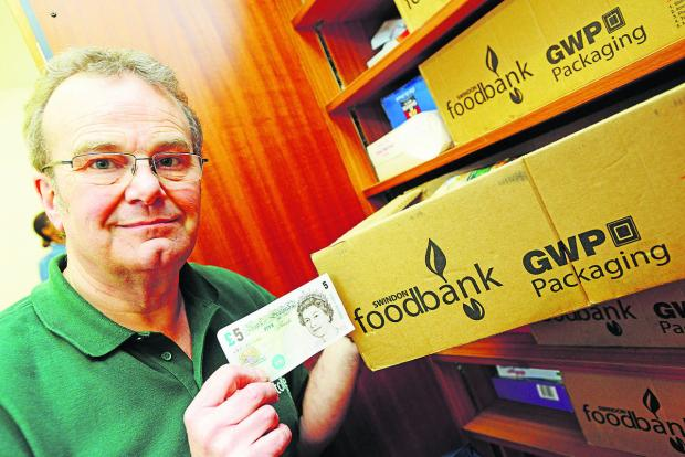 Swindon Advertiser: David Hartridge, project manager for the Foodbank in Swindon