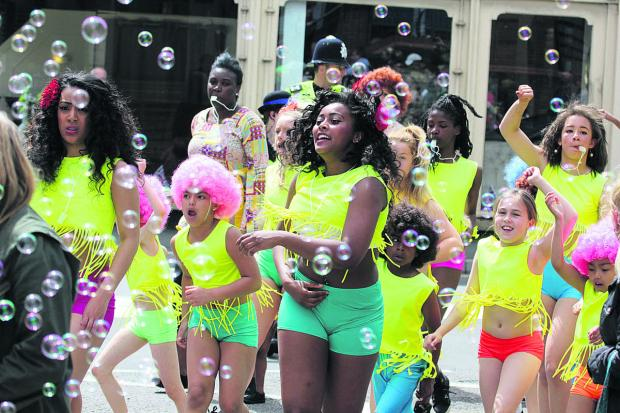 The Hot Steppers take part in last year's Old Town Festival parade