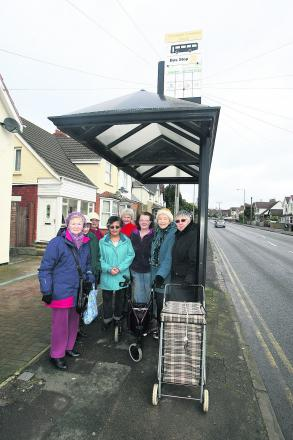 Residents in Croft Road who want the bus shelter to stay