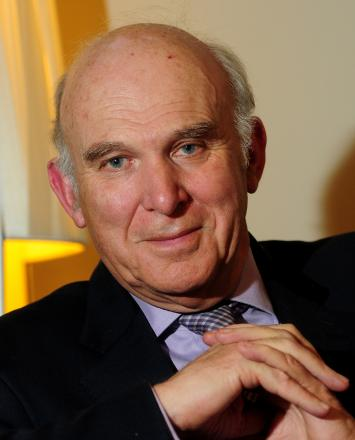Politician Vince Cable, born on this day in 1943
