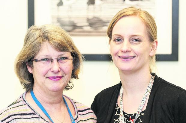 Helen Pepler and Rebecca King are offering support to the bereaved