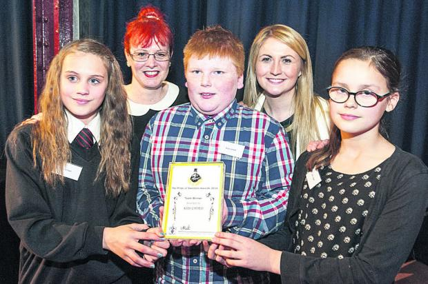 Swindon Advertiser: Kids United with their award