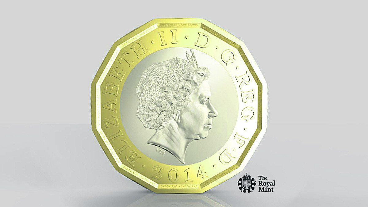 New £1's design is a little bit edgy