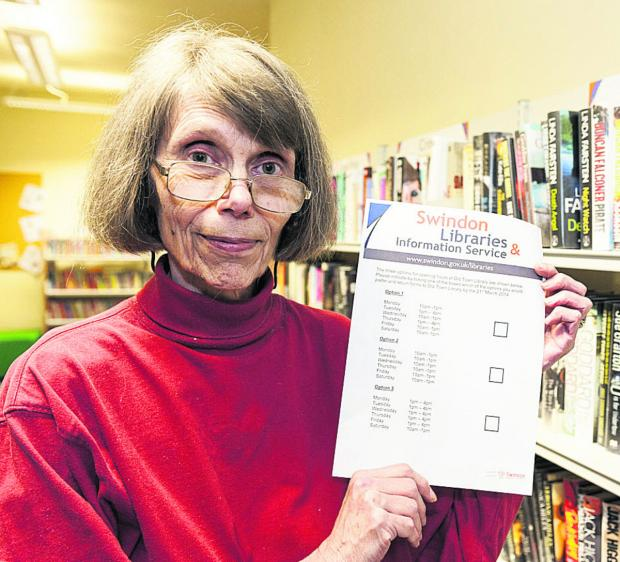 Library user Shirley Burnham  at Old Town Library